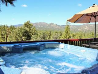 Mountain Top View: Luxury View Home with Spa, Big Bear City