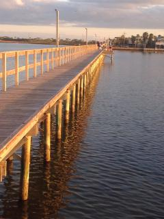 Sea Isle's private pier on the backside of the neighborhood.
