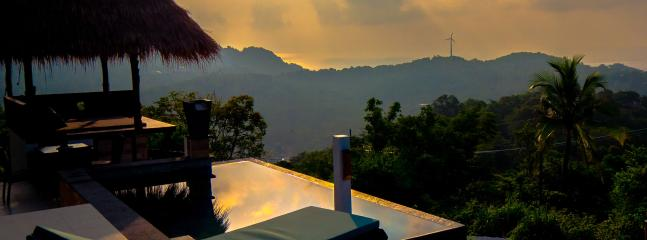 Sunrise over the hills of Koh Tao