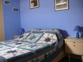 Chambre bleue  1 lit 2 personnes