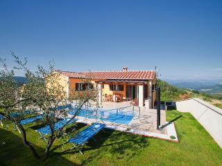 Beautiful 4 bedroom villa with private pool and amazing view over the Mirna valley, Vizinada