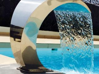 The Cascade adds the perfect finish to the pool