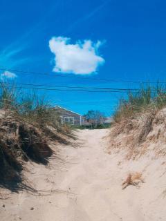 Path to the beach – less than a minute walk
