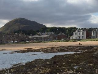 Looking back towards our holiday flat from the rock pools