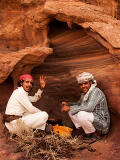 Coocking Bedouin Food