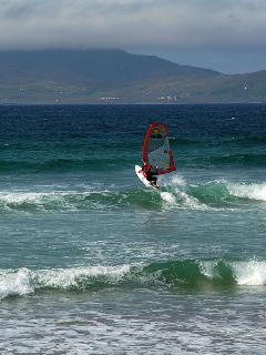 Windsurfing on Bertra Strand