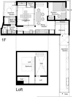 Toji Machiya Floor Plan