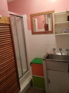 shower , with Laundry tub , toilet is seperate