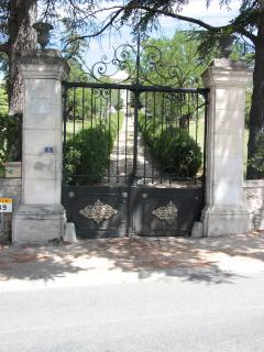 entrance gate of our villa saint marc