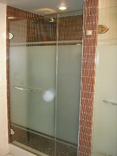Large shower unit.