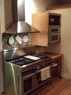 This is the Thermador range, and microwave/convection oven