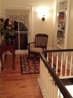 Check out this peaceful reading nook beside the upstairs landing.