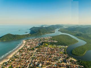 AP aconchegante, praias, rios, montanhas, natureza, Bertioga