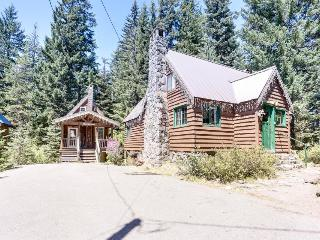 Wood fireplace, family & dog-friendly fairy-tale cabin, Government Camp