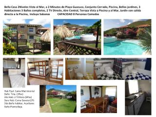 Casa Playa Guacuco, Conjunto. 3hab 3b 10Pax Piscin