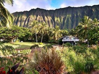 View of the Koolau Mountain Range as you drive into the property