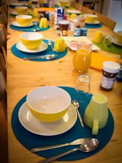 Le petit-déjeuner continental