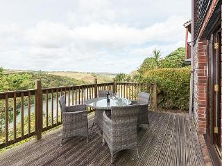 Decking area with lovely river views. The perfect place to relax and enjoy the scenery