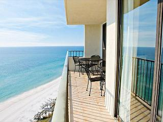 Gulf-front views from living room and master bedroom balcony