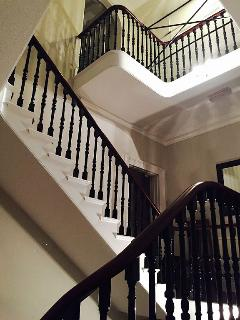 Portion of main stair case - another staircase below