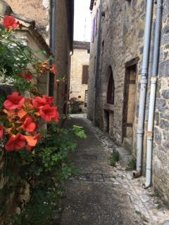 A carryrou near the house - a medieval laneway. Fun to explore them.