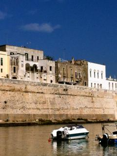 View of Otranto historic centre from the port