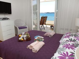 Main bedroom with LCD SAT TV and DVD, top quality AC Mitsubishi and spectacular sea view -  ALENKA