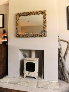 Wood burner - great for cold winter evenings!
