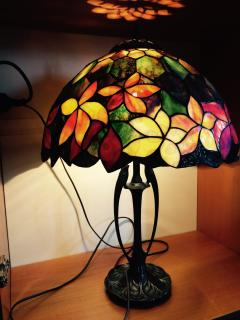 tiffany table lamp, the biggest.