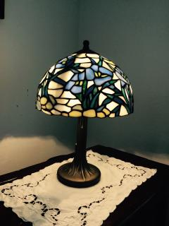 tiffany table lamp, the mildest.
