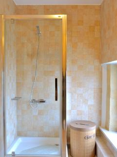Modern shower booth bathroom