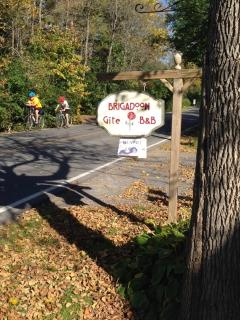 Bicyclists on tour - great plan to stay overnight on your circuit of the area.