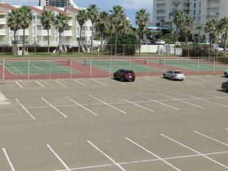 Tennis Courts across the parking lot