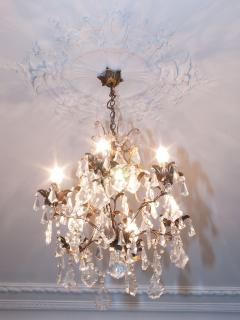 Chandelier in Sitting Room