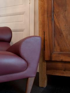 Detail of one of the two Linley Aston chairs in the apartment