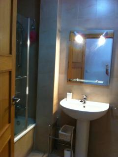 2nd Bathroom with Bath and shower.