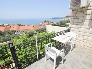 Studio with view on Sveti Stefan