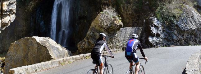 Clyclotourisme dans les gorges du Loup