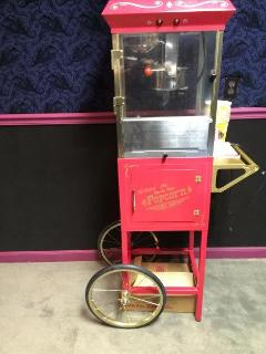 Old Fashioned Popcorn Machine in Theater Room