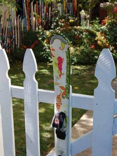 One Fun Girl ski adorns the gate