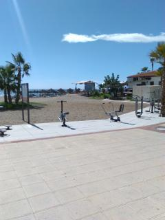 Exercise area on La Cala Beach