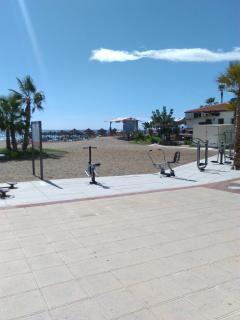 Exercise area on La Cala Beach