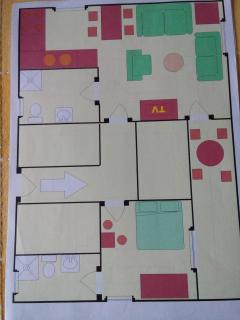 Apartment Flajs - ground plan