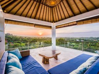 Roof Top Bale with panoramic views over Jimbaran Bay. Excellent place to watch sunset