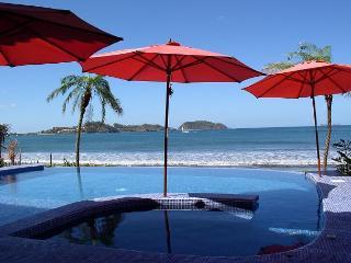 Amazing Beach Front Villa 5 bd 5 ba with Infinity Pool-step onto the sand, Playa Potrero