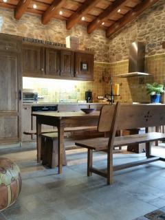 Muebles de roble en la cocina