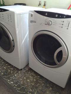 You are welcome to use the washer and dryer. We have hypoallergenic soap and dryer sheets.