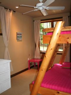 3rd bedroom on lower level, bunk beds