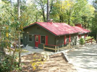 RED CREEK CABIN, Hot Tub/King Bed/2 FP/WIFI/Creek/FirePit/Dog & Child Friendly