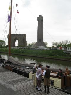 Rembrance world war one Yzertoren at Diksmuide